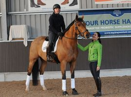 Click to enlarge image Simon-Middleton-riding-Classic-Briolinca.--Pictured-with-Rebecca-Hughes..jpg