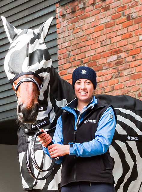 You are browsing images from the article: Olympic Rider Opts for the Zebra look